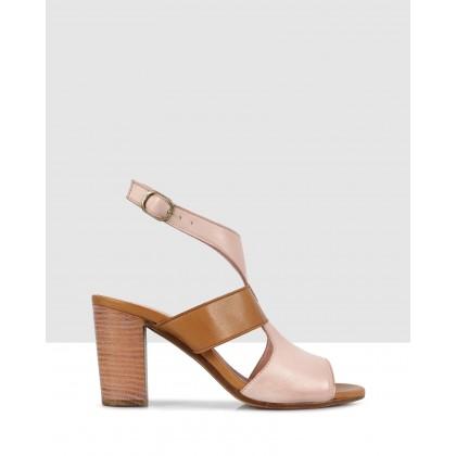 Brenda Heeled Sandals Powder-8411/tan-8402 by S By Sempre Di
