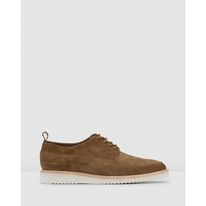 Brenner Lace Ups Taupe by Aquila