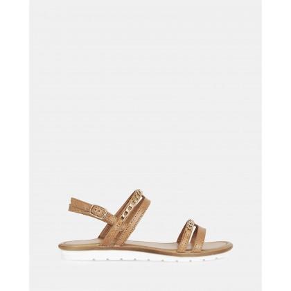 Brenta Sandals Cuoio-Oro by S By Sempre Di