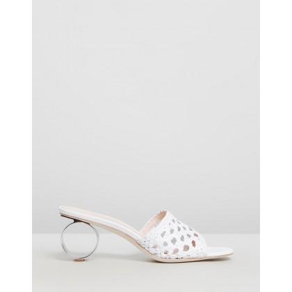 Brette Woven Sandals Optic White by Loeffler Randall