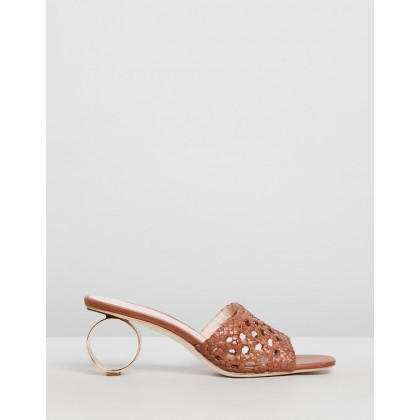 Brette Woven Sandals Timber Brown by Loeffler Randall