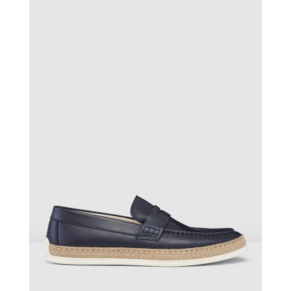 Briggs Slip Ons Navy by Aquila