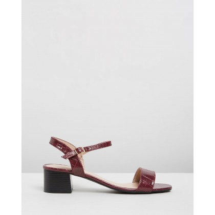 Bright Square Toe Heels Red by Dorothy Perkins