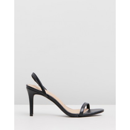 Brighton Heels Black Smooth by Spurr