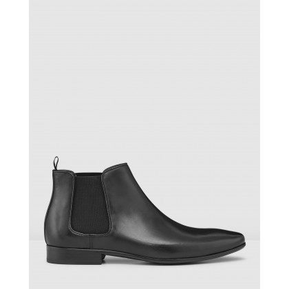 Brodrick Chelsea Boots Black by Aquila