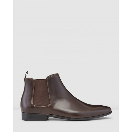 Brodrick Chelsea Boots Brown by Aquila