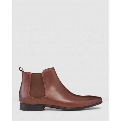 Brodrick Chelsea Boots Tan by Aquila