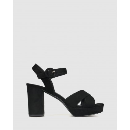 Bronte Platform Sandals Black Micro by Betts