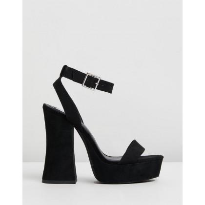 Bryson Heels Black Microsuede by Dazie