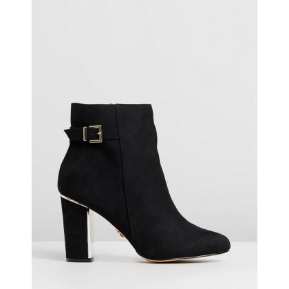 Buckle Block Heels - Wide Fit Black by Lipsy