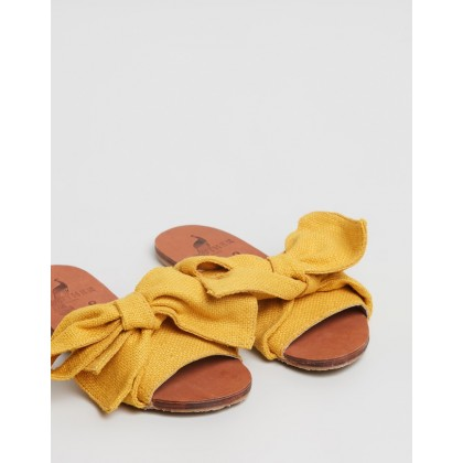 Burkina Sandals Golden Jute by Brother Vellies
