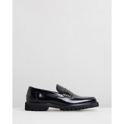Busan Leather Loafers Black by Double Oak Mills