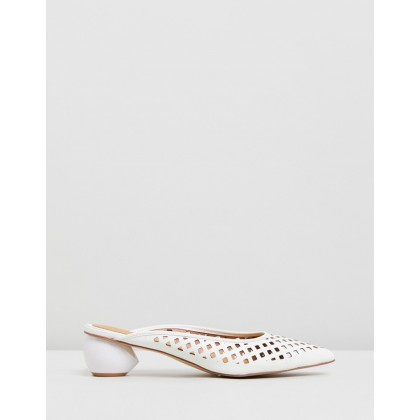 Caged Heels Ivory by Jaggar The Label