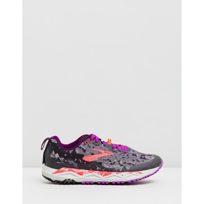 Caldera 3 - Women's Black, Purple & Coral by Brooks