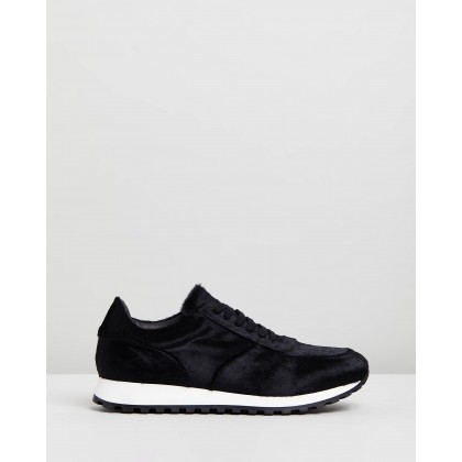 Calf Hair Trainers Black & White by Wings + Horns
