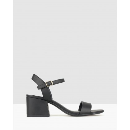 Camilla Block Heel Sandals Black by Betts