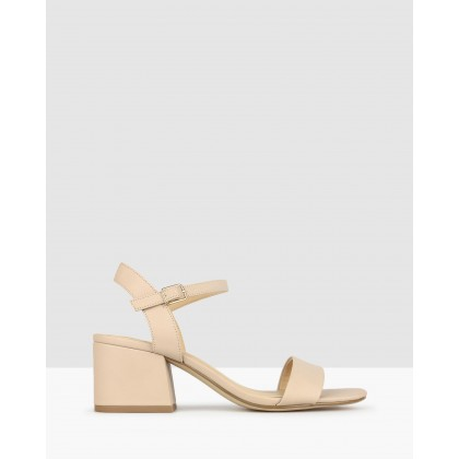Camilla Block Heel Sandals Nude by Betts