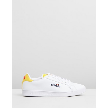 Campo Sneakers White & Cyber Yellow by Ellesse