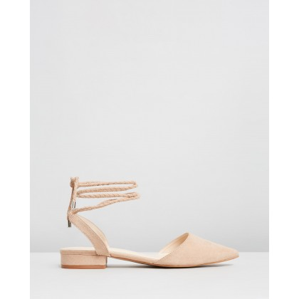 Canan Flats Nude Microsuede by Spurr