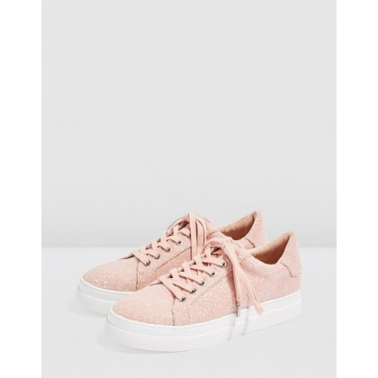 Candy Glitter Lace-Up Trainers Pink by Topshop