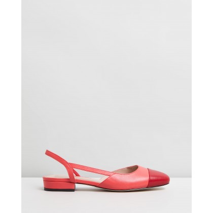 Capri Leather Flats Pink & Hot Pink Leather by Atmos&Here