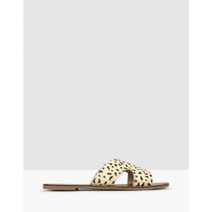 Caprice Cut Out Leather Sandals Leopard by Betts