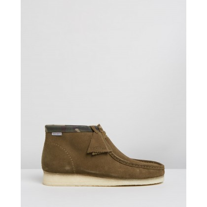 Carhartt WIP Wallabee Boots - Men's Olive Combi by Clarks Originals