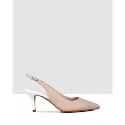 Carlee Sandals Skin-Bianco by Sempre Di