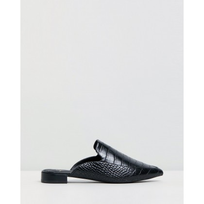 Carlene Flats Black Croc by Spurr