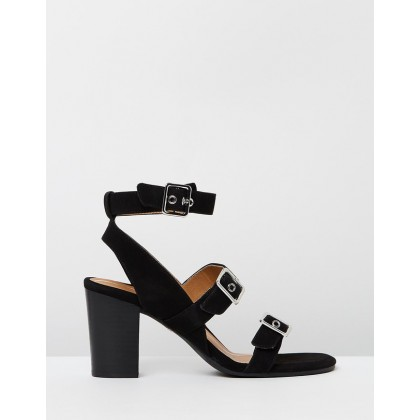 Carmel Heeled Sandals Black by Vionic