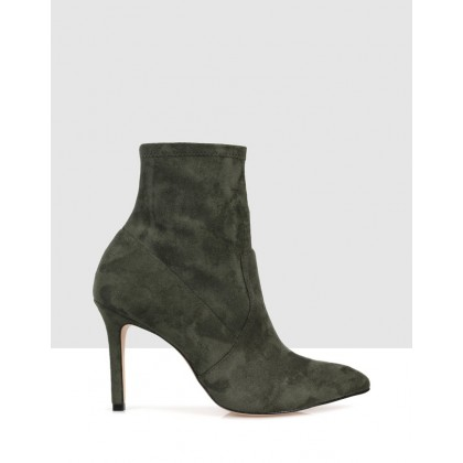 Carmen Ankle Boots Green by S By Sempre Di