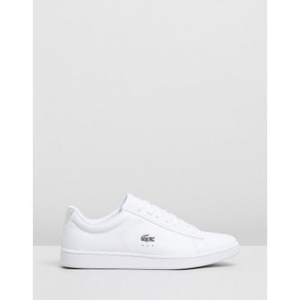 Carnaby Evo 219 1 SFA - Women's White & Silver by Lacoste