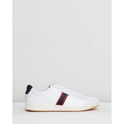 Carnaby Evo - Men's White, Navy & Red by Lacoste
