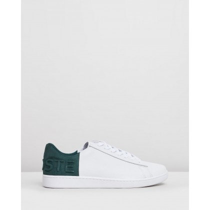 Carnaby Evo - Men's White & Dark Green by Lacoste