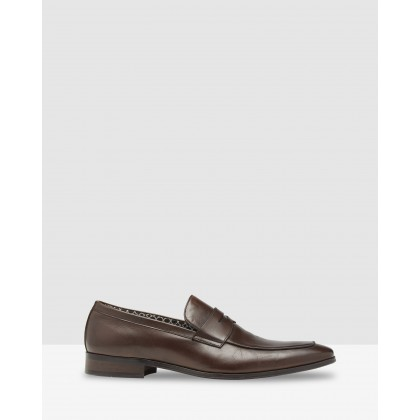 Cary Leather Shoes Chocolate by Oxford