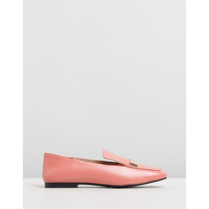 Casandra Leather Loafers Rose by Walnut Melbourne