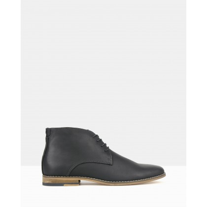 Case 2 Leather Ankle Boots Black by Zu