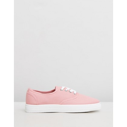Casey Creeper Plimsoll Shoes Rose Dawn by Rubi