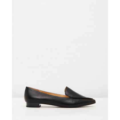 Casey Leather Flats Black Leather by Atmos&Here