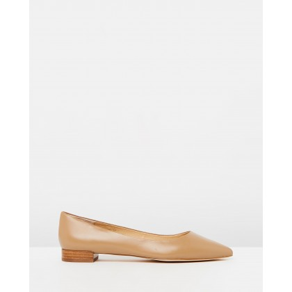 Cassia Leather Flats Nude Leather by Atmos&Here
