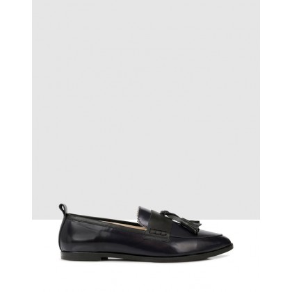 Cassy Slip Ons BLACK/BLACK by B.Coops
