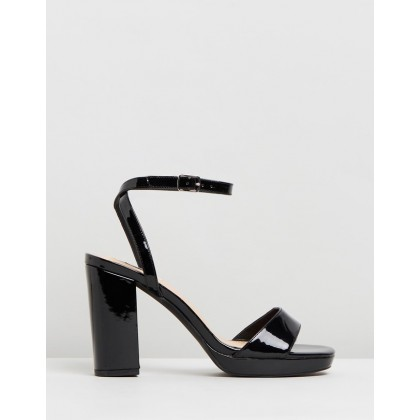 Catalina Heels Black Patent by Dazie