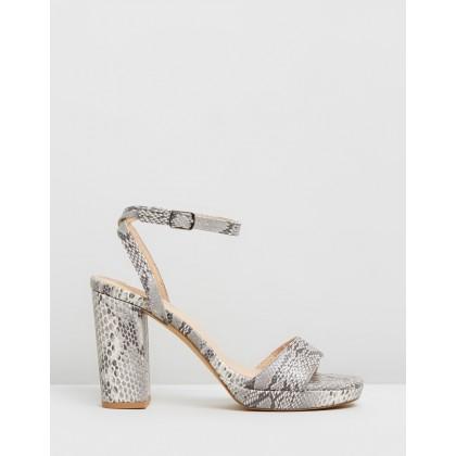 Catalina Heels Snakeskin by Dazie