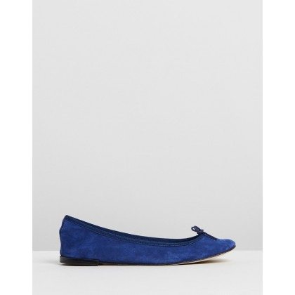 Cendrillon Dark Blue Suede by Repetto