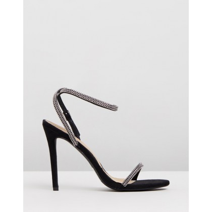 Chain Trim Heels Black by Missguided