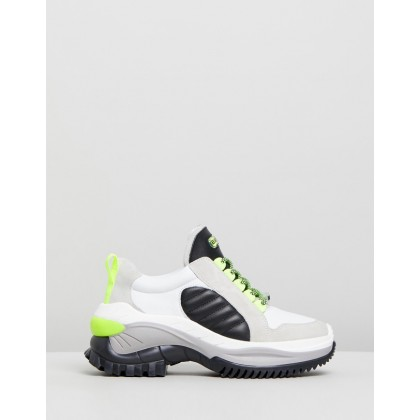 Chainy White, Neon Yellow & Black by Bronx