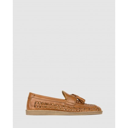 Challenge Slip On Huaraches Tan by Zu