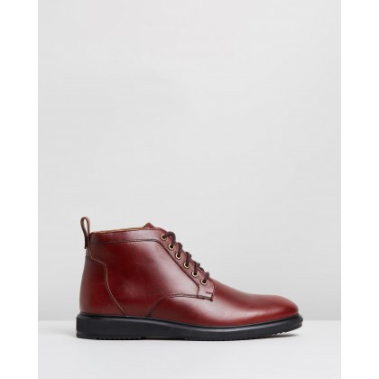 Charlie Leather Boots Bordo by Double Oak Mills