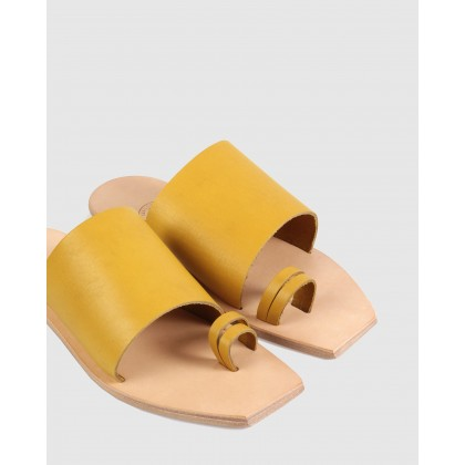 Charlotte Flat Sandals Yellow by Beau Coops