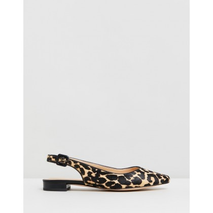 Charlotte Leather Flats Leopard Pony Hair by Atmos&Here